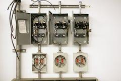Centro eléctrico del contador fotografía de archivo