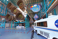 Centro Espacial Kennedy en Flordia Imagenes de archivo