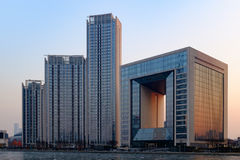 Centro financeiro de mundo de Tianjin Fotos de Stock Royalty Free