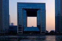 Centro financeiro de mundo de Tianjin Foto de Stock Royalty Free
