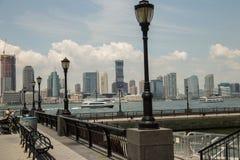 Centro financeiro de mundo em Manhattan do centro, New York City imagem de stock