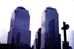 Centro financeiro de mundo, NY foto de stock