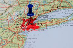 Centro financeiro de New York Foto de Stock Royalty Free
