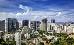 Centro financeiro de Rio de janeiro Imagens de Stock