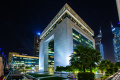 Centro financeiro internacional de Dubai Fotografia de Stock Royalty Free