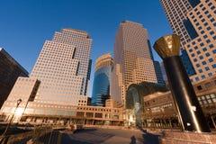 Centro financeiro New York City de mundo Imagem de Stock