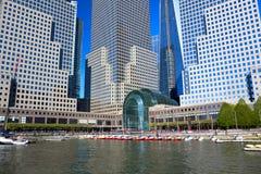 Centro financiero de mundo Fotografía de archivo libre de regalías