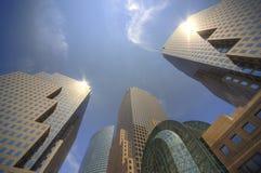 Centro financiero de mundo de Nueva York Imagenes de archivo