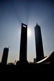 Centro financiero de mundo de Shangai y torre de Jinmao Foto de archivo