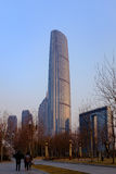 Centro financiero de mundo de Tianjin Fotografía de archivo