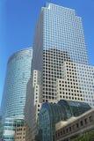 Centro financiero de mundo en Lower Manhattan Imágenes de archivo libres de regalías