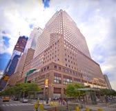 Centro financiero de mundo en New York City Fotos de archivo libres de regalías