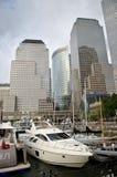 Centro financiero de mundo en New York City Imágenes de archivo libres de regalías