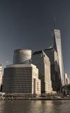 Centro financiero de mundo, New York City Imágenes de archivo libres de regalías