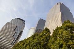 Centro financiero de mundo, Nueva York Foto de archivo