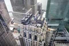 Centro financiero de mundo - Nueva York Fotografía de archivo libre de regalías