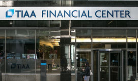 Centro financiero de TIAA Imagen de archivo