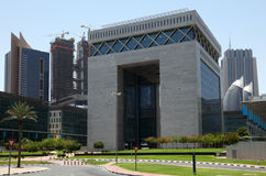 Centro financiero internacional de Dubai imagen de archivo