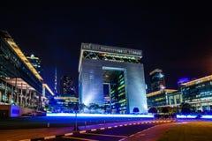 Centro financiero internacional de Dubai Fotos de archivo libres de regalías