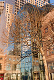 Centro financiero New York City de mundo Imagen de archivo libre de regalías