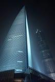 Centro finanziario alla notte, Cina del mondo di Shanghai Fotografia Stock Libera da Diritti