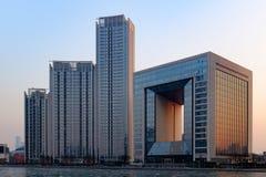 Centro finanziario del mondo di Tientsin Fotografie Stock Libere da Diritti