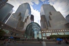 Centro finanziario del mondo a New York City Immagine Stock Libera da Diritti