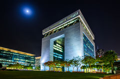 Centro finanziario dell'internazionale del Dubai Fotografia Stock