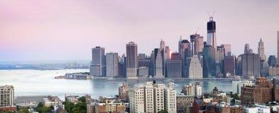 Centro finanziario di Manhattan, New York Fotografie Stock