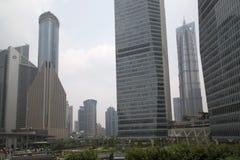 Centro finanziario di Shanghai Immagini Stock Libere da Diritti