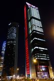 Centro finanziario di Torres di cuatro, Madrid immagine stock libera da diritti