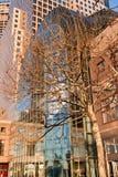 Centro finanziario New York City del mondo Immagine Stock Libera da Diritti