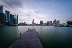 Centro finanziario superiore dell'Asia, di Singapore e città più ricca fotografie stock libere da diritti