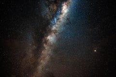 Centro galáctico con Marte imagenes de archivo