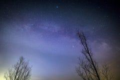 Centro galáctico, vía láctea foto de archivo libre de regalías