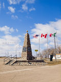 Centro geográfico de Norteamérica. Rugbi de la ciudad, ND. Fotos de archivo libres de regalías