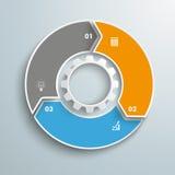 Centro grande del engranaje del ciclo de las opciones del anillo 3 ilustración del vector