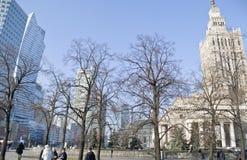 Centro hermoso en Varsovia Fotografía de archivo libre de regalías