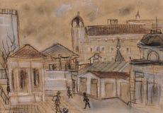 Centro histórico ilustração royalty free