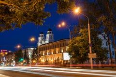 Centro histórico da cidade de Minsk, Bielorrússia fotos de stock royalty free