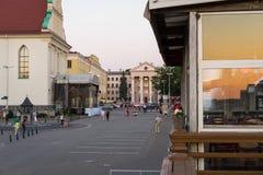 Centro histórico da cidade de Minsk, cidade superior, Bielorrússia imagem de stock