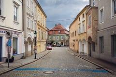 Centro histórico da cidade de Ybbs um der Donau Baixa Áustria imagem de stock royalty free