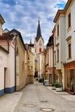Centro histórico da cidade de Ybbs um der Donau Baixa Áustria fotografia de stock