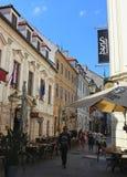 Centro histórico de Bratislava, capital de Eslováquia fotos de stock royalty free