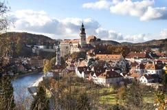 Centro histórico de Cesky Krumlov Fotografia de Stock