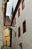 Centro histórico de Cesky Krumlov Fotos de Stock