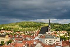 Centro histórico de Cesky Krumlov Imagem de Stock Royalty Free