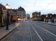Centro histórico de Dresden (señales), Alemania Foto de archivo libre de regalías