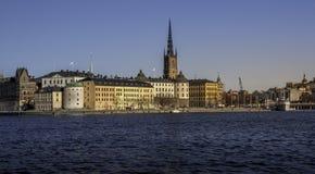 Centro histórico de Estocolmo Imágenes de archivo libres de regalías