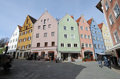 Centro histórico de Fuessen, Baviera Imagens de Stock
